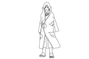 How To Draw Itachi Uchiba Drawingnow