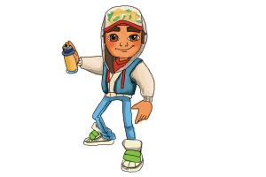 How to draw Jake from Subway Surfers