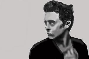 How to draw James Dean