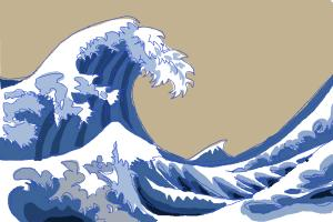How to draw Japanese waves