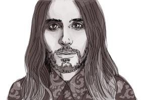 How to draw Jared Leto