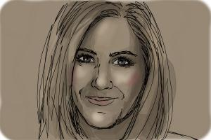 How to Draw Jennifer Aniston