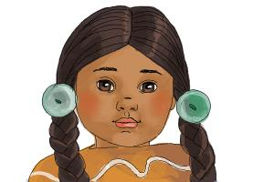 How to draw Kaya, Doll from American Girl