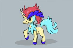 How to draw Keldeo