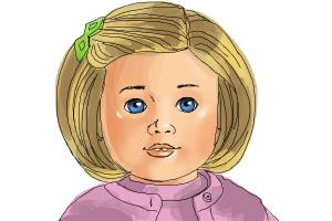 How to draw Kit, Doll from American Girl