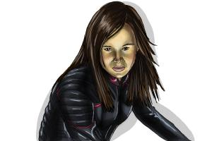 How to draw Kitty Pride, Ellen Page from X-Men: Days of Future Past