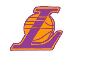 How to draw Lakers logo