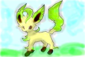 How to draw Leafeon the verdant pokemon