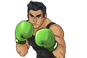 How to draw Little Mac from Super Smash Bros