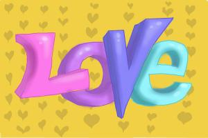 How to Draw Love In 3D