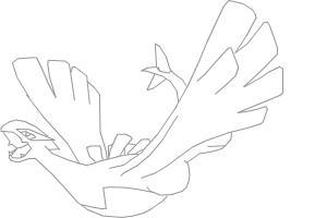how to draw lugia pokemon step by step