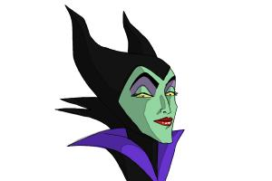 How to Draw Maleficent Easy