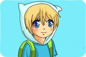 How to Draw Manga Finn from Adventure Time