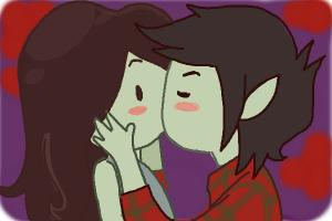 How to draw Marceline and Marshall Lee Kissing