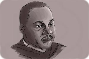 How to draw Martin Luther King Jr
