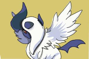 How to draw Mega Absol from Pokemon