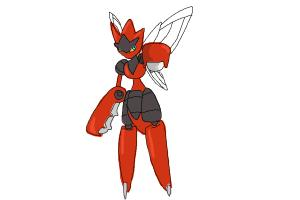 How to draw Mega Scizor