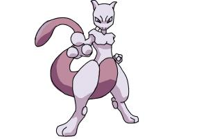 How to Draw Pokemon - Mewtwo