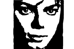how to draw michael jackson face