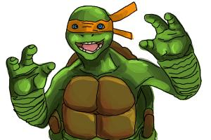 How to draw Michaelangelo from Teenage Mutant Ninja Turtles 2014, TMNT