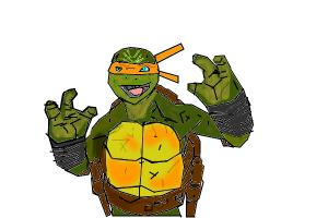 how to draw michelangelo teenage ninja turtles out of the shadows