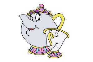 How to Draw Mrs. Potts And Chip from Beauty And The Beast
