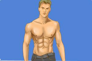 How to draw muscle man