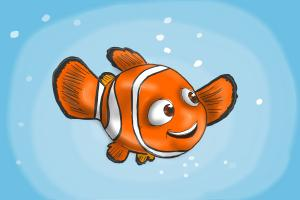 How to draw Nemo step by step
