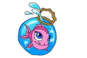 How to draw Neptuna, pet of Lagoona Blue