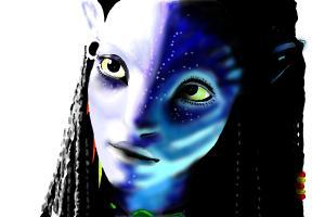 How to Draw Neytiri from Avatar