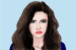 How to draw Nina Dobrev