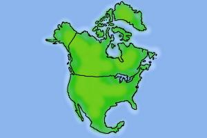 How to draw North America