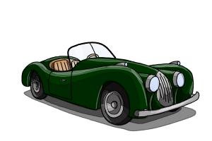 How to draw old cars
