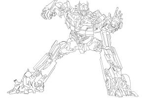 How to draw Optimus Prime (from Transformers)