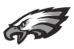 How to draw Philadelphia Eagles logo, NFL team logo
