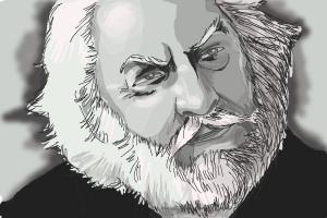 How to draw President Snow, Donald Sutherland from The Hunger Games