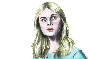 How to draw Princess Aurora, Elle Fanning from Maleficent