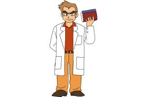 How to draw Professor Oak from Pokemon