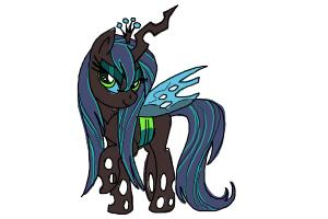 How to draw Queen Chrysalis from My Little Pony Friendship is Magic