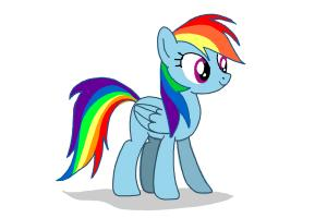 How to draw Rainbow Dash from My Little Pony Friendship is Magic