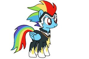 How to Draw Rainbow Dash, Zapp from Power Ponies