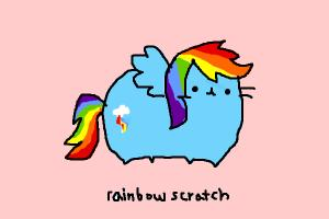 how to draw rainbowscratch from my little pusheen