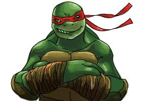 How to draw Raphael from Teenage Mutant Ninja Turtles 2014, TMNT