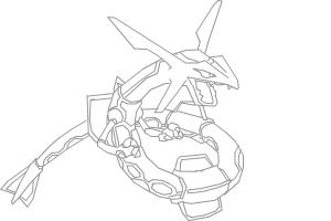 How to draw Rayquaza