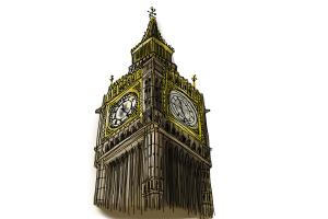 How to draw Realistic Big Ben