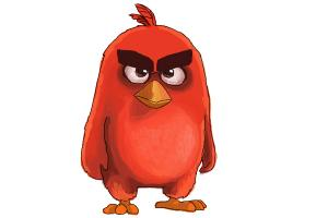 How to Draw Red from The Angry Birds Movie
