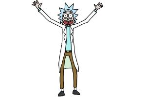 How to Draw Rick and Morty - Rick Sanchez