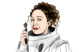 How to draw River Song from Doctor Who