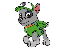How to draw Rocky PAW patrol