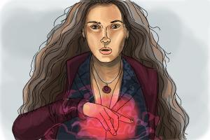How to Draw Scarlet Witch from  from Avengers: Age of Ultron